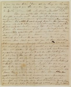 Harriet's suicide letter. Bodleian Libraries, Oxford.