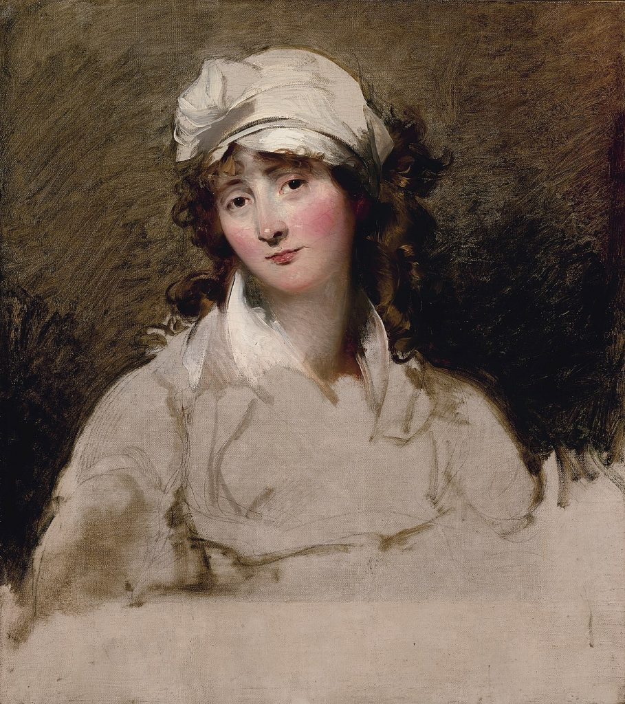 1796 Portrait of Elizabeth Inchbald by Thomas Lawrence.