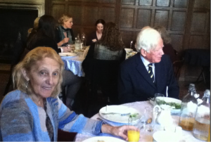 Ellen Moody, editor of the new edition of Smith's Ethelinde (1789), at lunch on Saturday 15th October 2016.