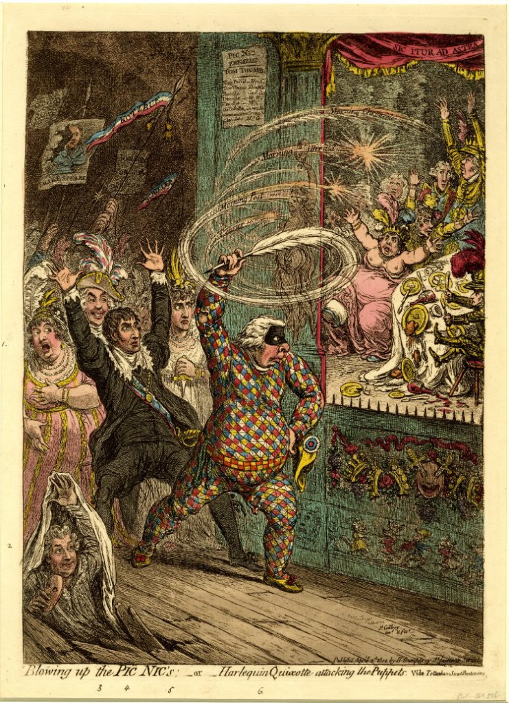 Gillray - Blowing Up the Pic Nics