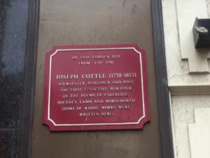 Joseph Cottle's bookshop