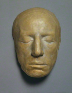 Plaster cast of William Wordsworth's life mask by Benjamin Robert Haydon (1815). National Portrait Gallery, London