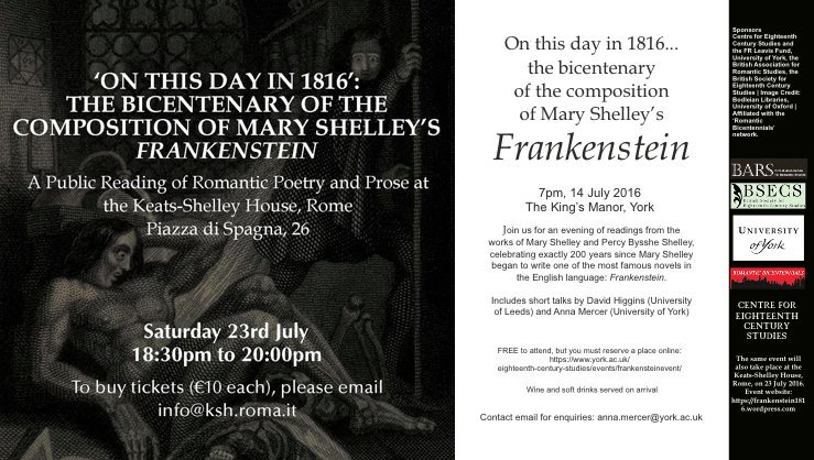 romanticism in frankenstein by mary shelley Mary shelley's frankenstein uses many elements of both gothic literature and romantic literature being written in 1818 the novel was placed well in the romantic era.