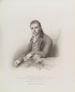 NPG D16117; Sir Walter Scott, 1st Bt by Charles Picart, published by  T. Cadell & W. Davies, after  William Evans, after  Sir Henry Raeburn