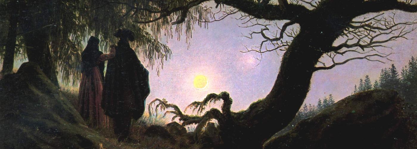 Caspar David Friedrich - Mann und Frau in Betrachtung des Mondes (1824)