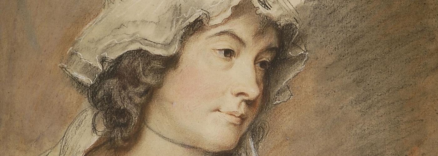George Romney - Charlotte Turner Smith (1792)