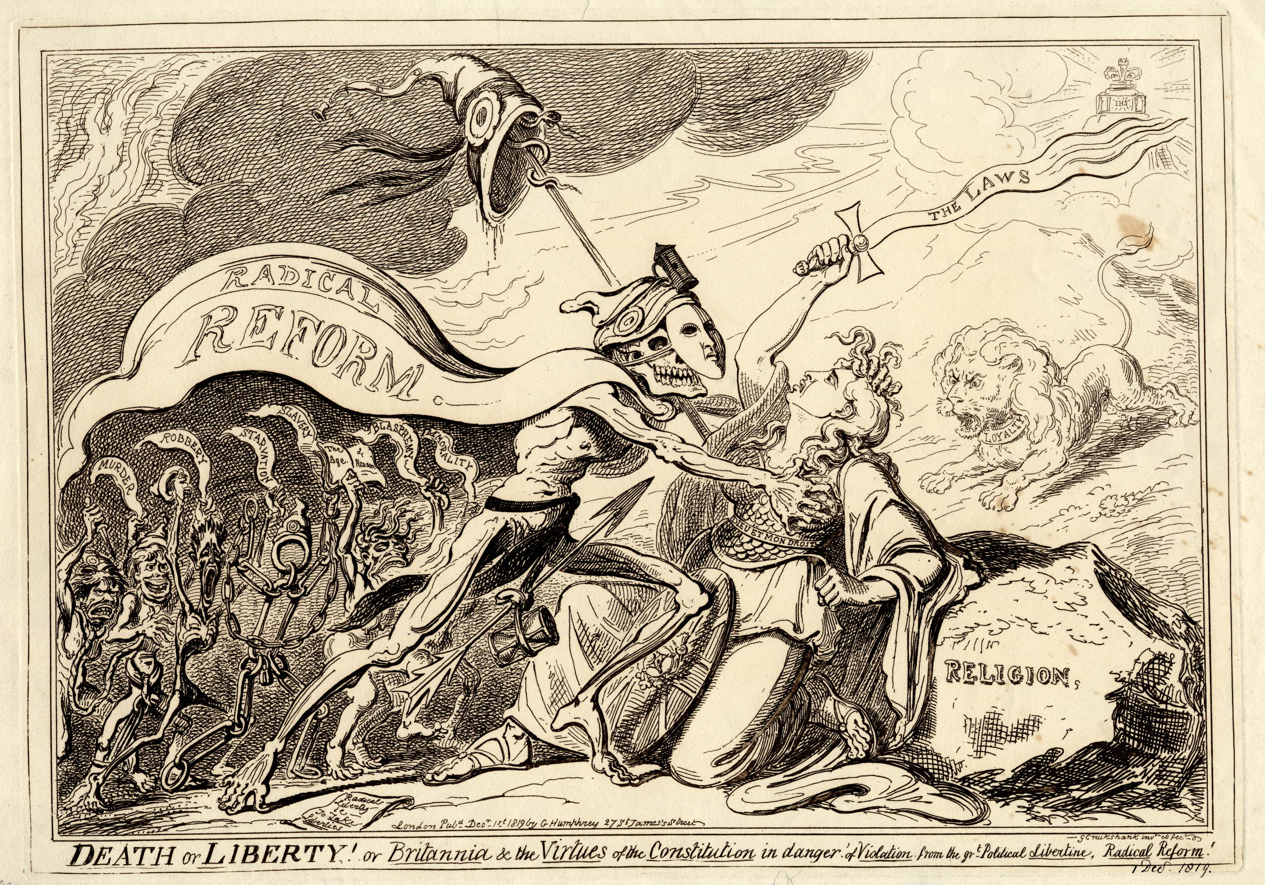 George Cruikshank, 'Death or Liberty!' (1819). ©Trustees of the British Museum. Used under a Creative Commons CC BY-NC-SA 4.0 license.